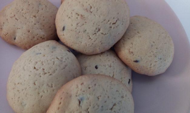 Biscotti con chicchi di cioccolato